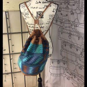 Anthropologie Handbags - Ecote backpack/Crossbody bag/purse w/leather trim