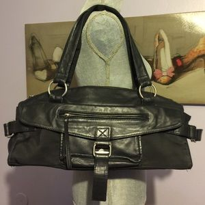 Sisley Handbags - Sisley Leather And Nylon Satchel