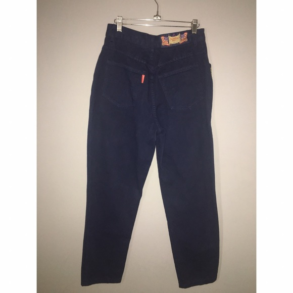 monique Jeans - Vintage High waist Jeans w/metal accents Sz 9/10