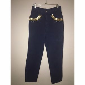 Vintage High waist Jeans w/metal accents Sz 9/10