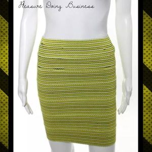 Pleasure Doing Business Dresses & Skirts - PLEASURE DOING BUSINESS Yellow/Black Stripe Skirt