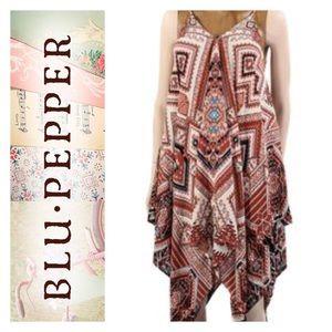 Blu Pepper Dresses & Skirts - Blu Pepper geometric handkerchief dress. NWOT