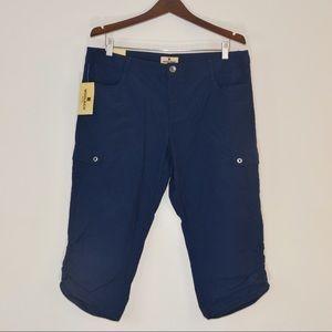Woolrich Pants - New WOOLRICH 10 NAVY Blue Lightweight CAPRI Pants