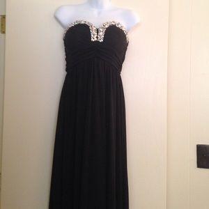 City Studio Dresses & Skirts - CityStudio Black chiffon full length prom dress
