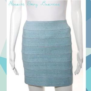 Pleasure Doing Business Dresses & Skirts - PLEASURE DOING BUSINESS Blue Banded Pencil Skirt