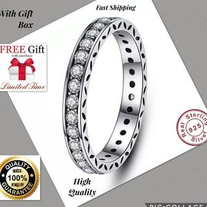 Jewelry - Real S925 Silver band Ring Authentic Women men