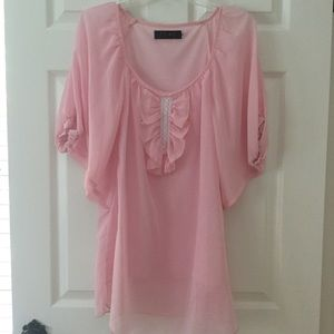 Pastel Pink Angel Wing Boho Top