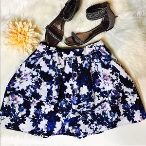 Express Skirts - Express Blue/White Floral Skirt