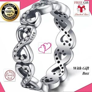 Jewelry - Huge sale💓infinity silver ring fashion men fashio