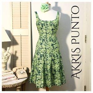 Akris Punto Dresses & Skirts - AKRIS Punto Fit & Flare Dress with Pixilated Print