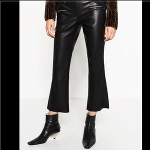 Zara Pants - Cropped Faux Leather Trausure