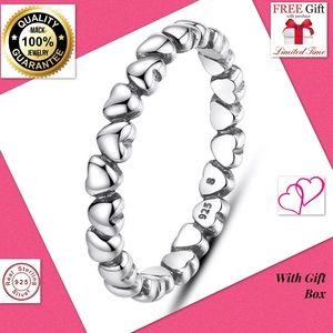 Jewelry - Huge sale silver heart band men women ring fashion