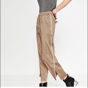 Zara Pants - Printed Loose-Fit Trousers