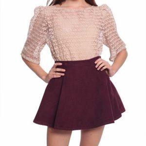 American Apparel High Waist Corduroy Circle Skirt