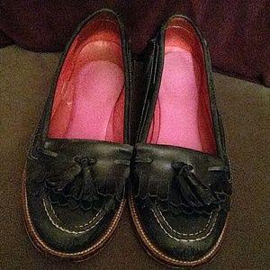 Boden Shoes - Boden navy blue fringe tassel loafers