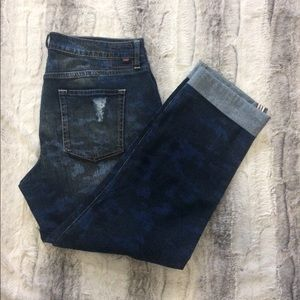 Jag Jeans Denim - Jag Jeans 'Relaxed Boyfriend' Fit Camo Distressed