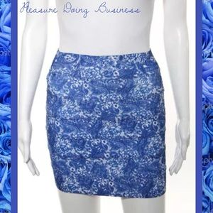 Pleasure Doing Business Dresses & Skirts - PLEASURE DOING BUSINESS Blue/White Spangled Skirt