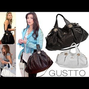 Gustto Handbags - Gustto genuine leather black shoulder bag