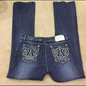 Grace Denim - 🦋🦋GRACE bling darkwash jeans bootcut sz 11