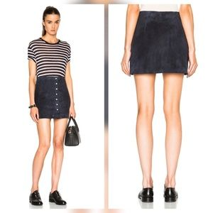 T by Alexander Wang Dresses & Skirts - T Alexander Wang Suede Leather Button Up Skirt