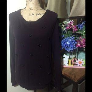 LOFT Sweaters - 🔴 Sale Ann Taylor Deep Purple Sweater NWOT