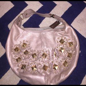 Isabella Fiore Handbags - Isabella Fiore Metallic Leather Studded Bag