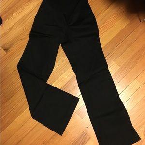 A Pea in the Pod Pants - Black cotton- sheen Maternity pant. Wide leg XS