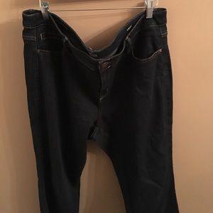 Dark wash skinny jeggings