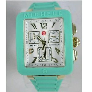 Michele  Accessories - NWT Michele Seafoam and gold ladies watch