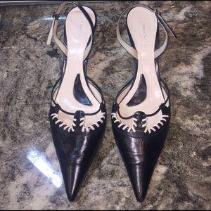 Alessandro Dell'Acqua Shoes - ALESSANDRO DELL' ACQUA Black Leather Low Heel