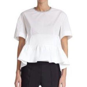 Marni Tops - Marni Short Sleeve Loose Fit Peplum Tee