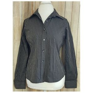 Foxcroft Tops - Foxcroft button down shirt wrinkle free striped