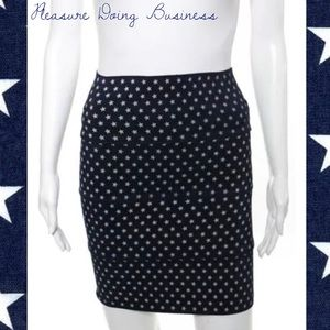 Pleasure Doing Business Dresses & Skirts - PLEASURE DOING BUSINESS Navy/White Star Band Skirt