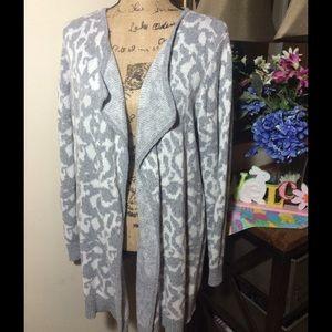 LOFT Sweaters - 🔴 Sale Ann Taylor Loft Grey/White Cardigan