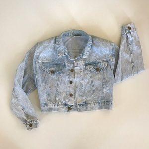Vintage Denim Crop Jacket