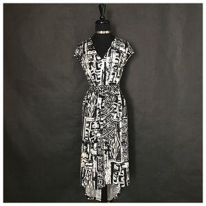 Ice Dresses & Skirts - Black & White Asymmetrical Dress