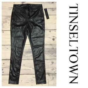Tinseltown Pants - Tinseltown Black Faux-Thin-Like-Leather Pants ✨