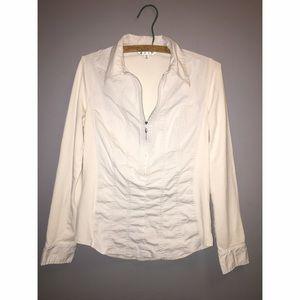 CAbi Tops - CAbi About Town Pale Grey Shirt Sz Medium