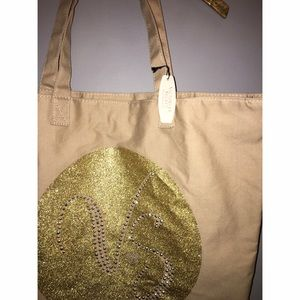 Victoria's Secret Bags - NEW Victoria's Secret Gold Canvas Tote