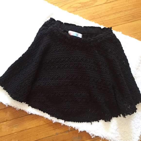 c835a8a74e73 Free People Dresses & Skirts - Free people beach black small knit crochet  skirt