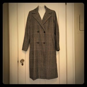 Plaid Woven Duster Trench Coat