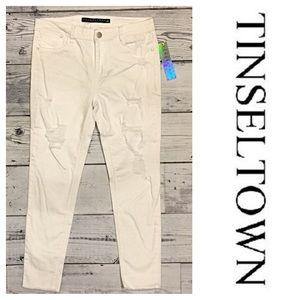 Tinseltown Denim - Tinseltown White Distressed Denim Jeans ✨