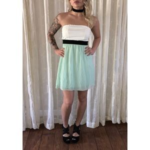 NWT Strapless Colorblock Dress Charlotte Russe