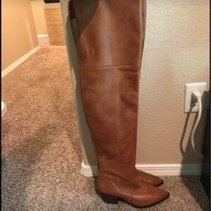 cdf4a047cb9 Aldo Shoes - ALDO Deedee Cognac Leather Over The Knee Boots