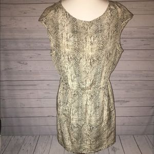 Zara Woman Silk snakeskin mini dress Tunic Top