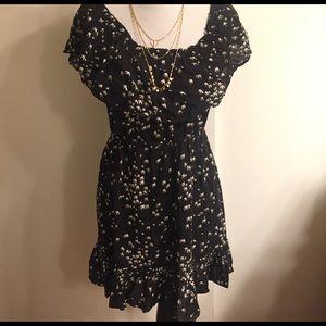 Bird print dress - can be worn 2 ways