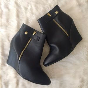 torrid Shoes - Black Wedge Ankle Boots