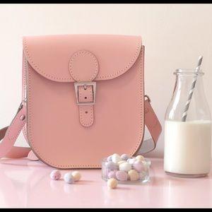 Cambridge Satchel Handbags - Brit Stitch Pink Milkman LeatherShoulder Bag