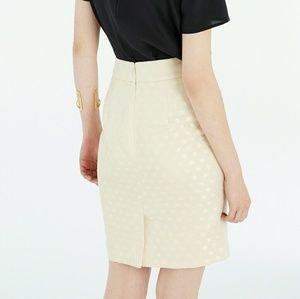 Ann Taylor polka dot jacquard pencil skirt, petite
