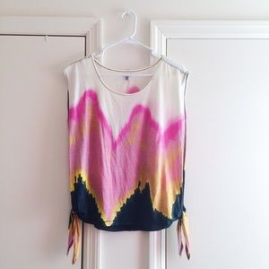Urban Outfitters Watercolor Side Tie Tank